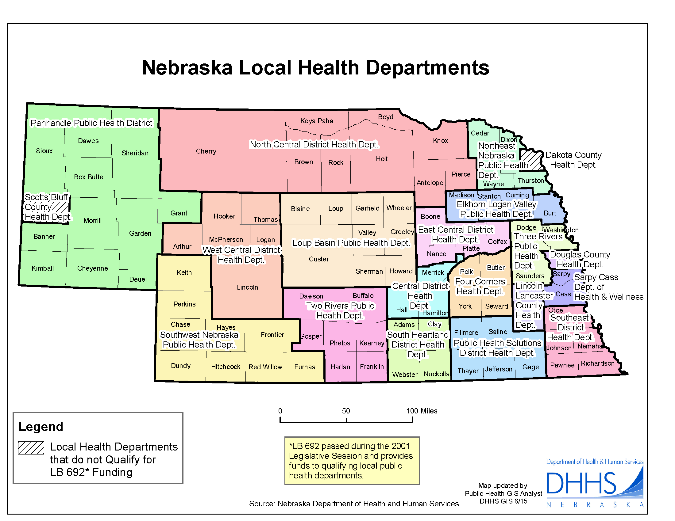 Nebraska Local Health Departments